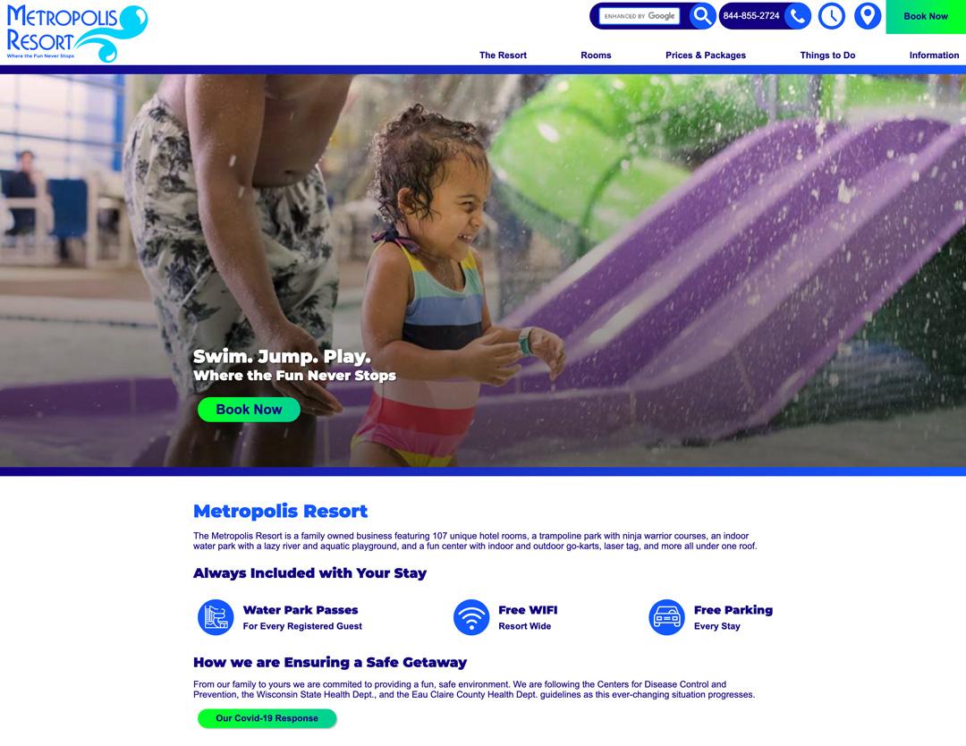 Metropolis Resort Home Page