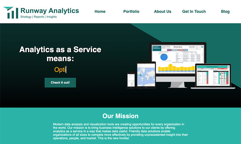 Runway Analytics Home Page