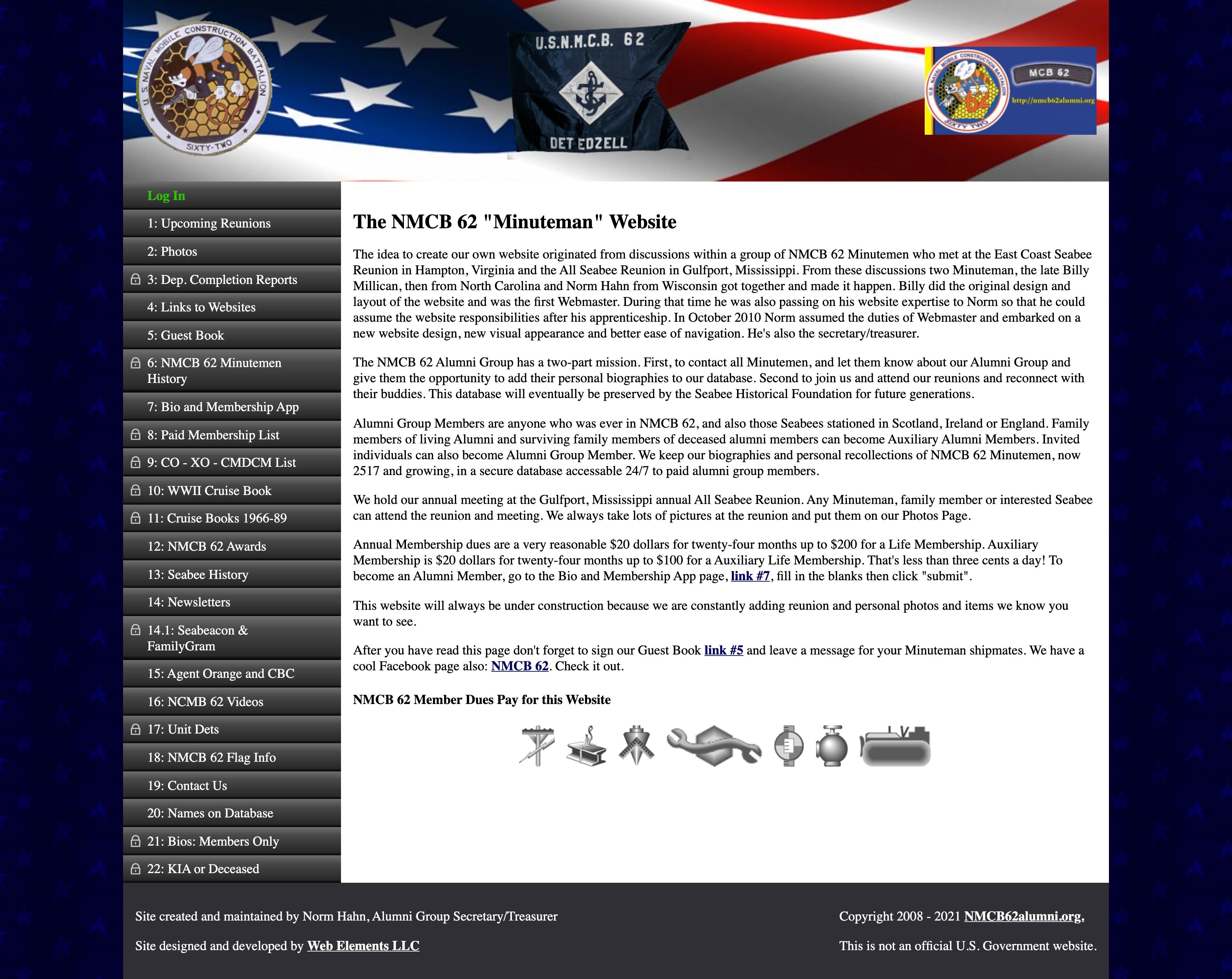 NMCB 62 Alumni Home Page